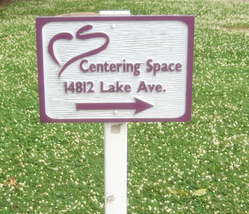 Centering Space sign